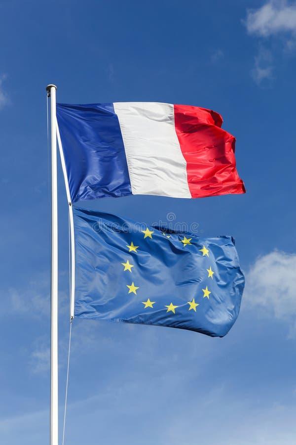 Drapeaux d'Union française et européenne photos libres de droits