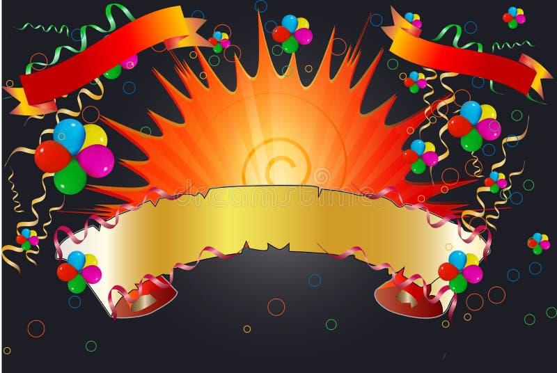 Drapeaux de célébration illustration de vecteur