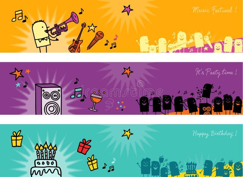 Drapeaux de célébrations illustration stock
