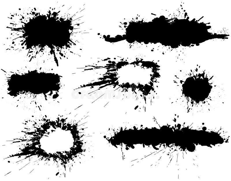 Drapeaux de flaque d'encre illustration de vecteur