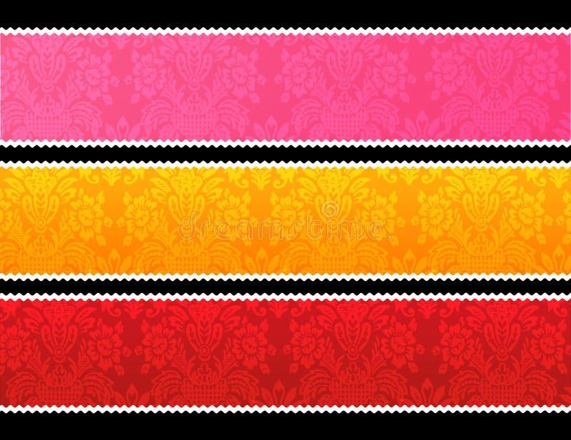 Drapeaux de garniture de lacet illustration stock