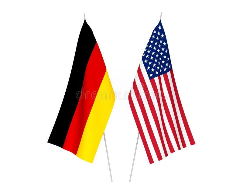 Drapeaux de l'Amérique et de l'Allemagne illustration libre de droits
