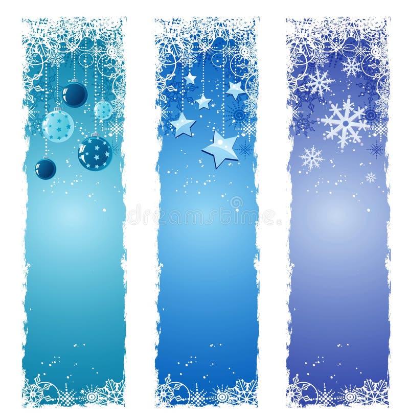 Drapeaux de l'hiver illustration de vecteur