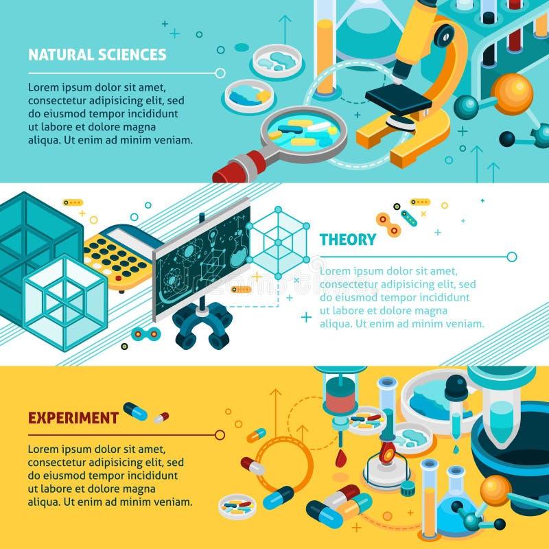 Drapeaux de la Science réglés illustration libre de droits