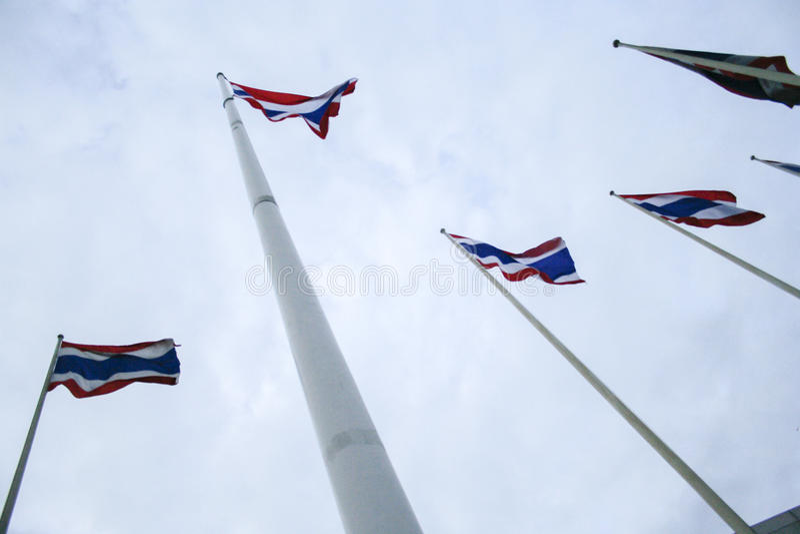 Drapeaux de la Thaïlande images libres de droits
