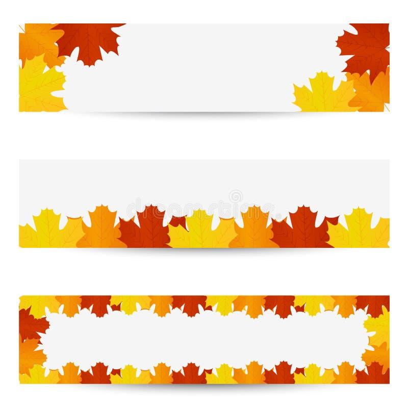Drapeaux de lames d'automne illustration stock