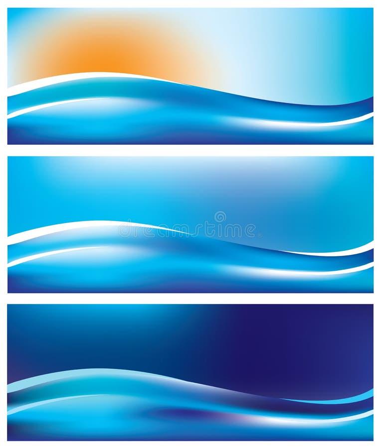 Drapeaux de mer illustration libre de droits