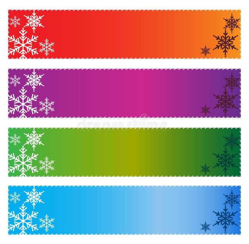 Drapeaux de Noël photo stock