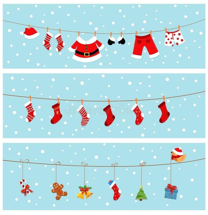 Drapeaux de Noël illustration libre de droits