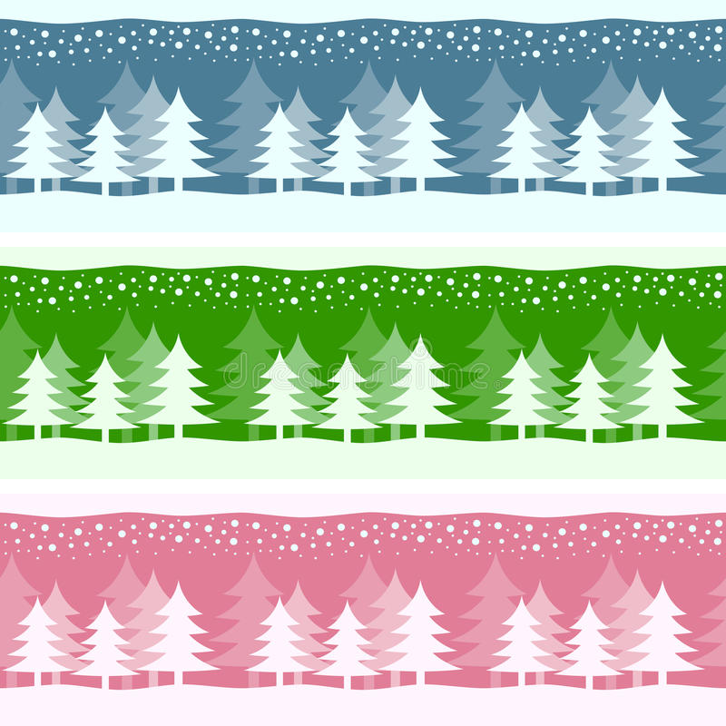 Drapeaux de Noël de l'hiver illustration de vecteur
