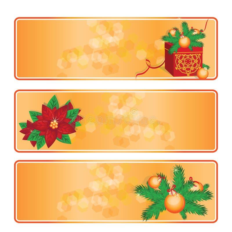 Drapeaux de Noël réglés illustration libre de droits