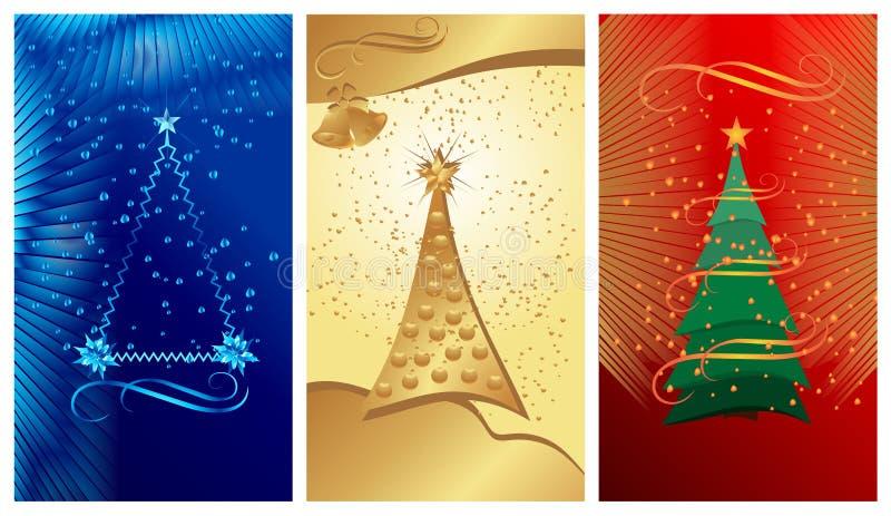 Drapeaux de Noël, vecteur de cdr illustration stock