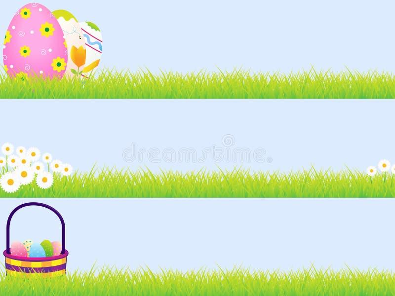 Drapeaux de Pâques illustration libre de droits