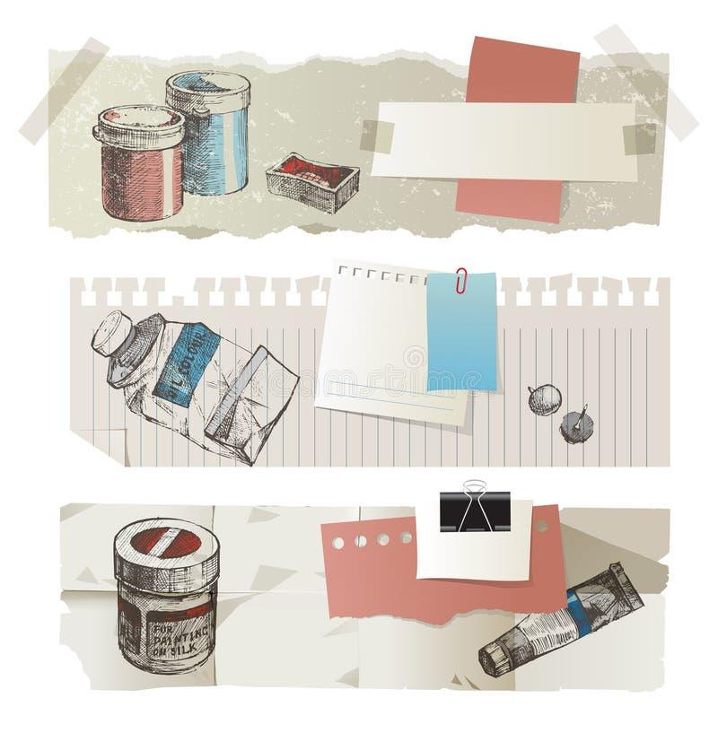 Drapeaux de papier illustration libre de droits