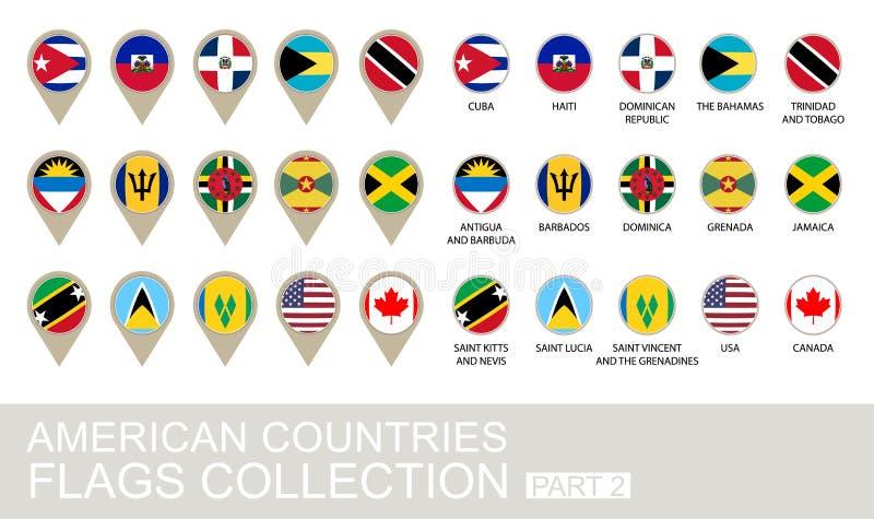 Drapeaux de pays américains collection, partie illustration libre de droits