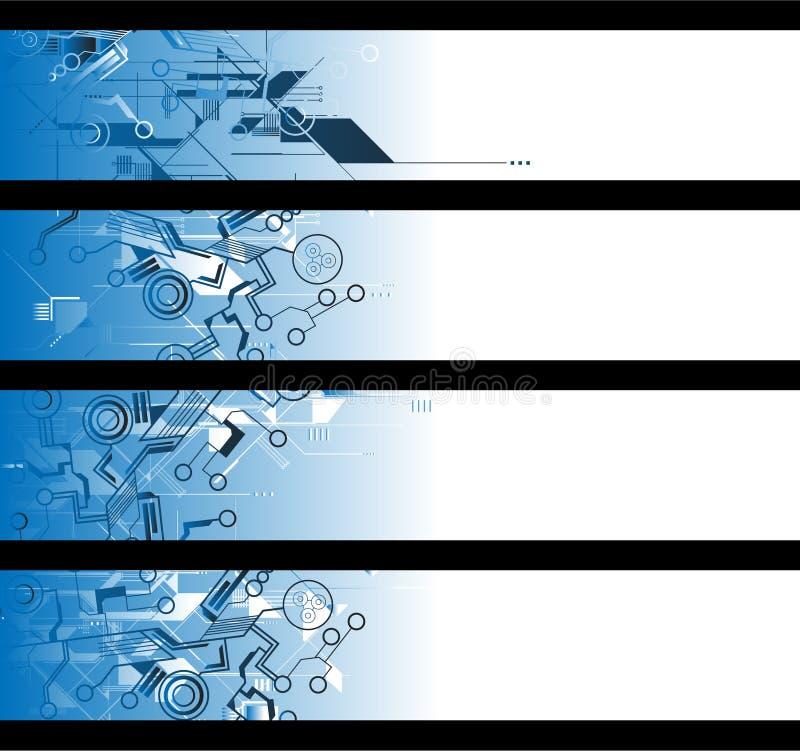 Drapeaux de Separtated illustration stock