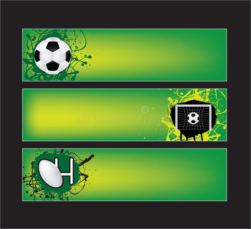Drapeaux de sports du football et de rugby illustration stock