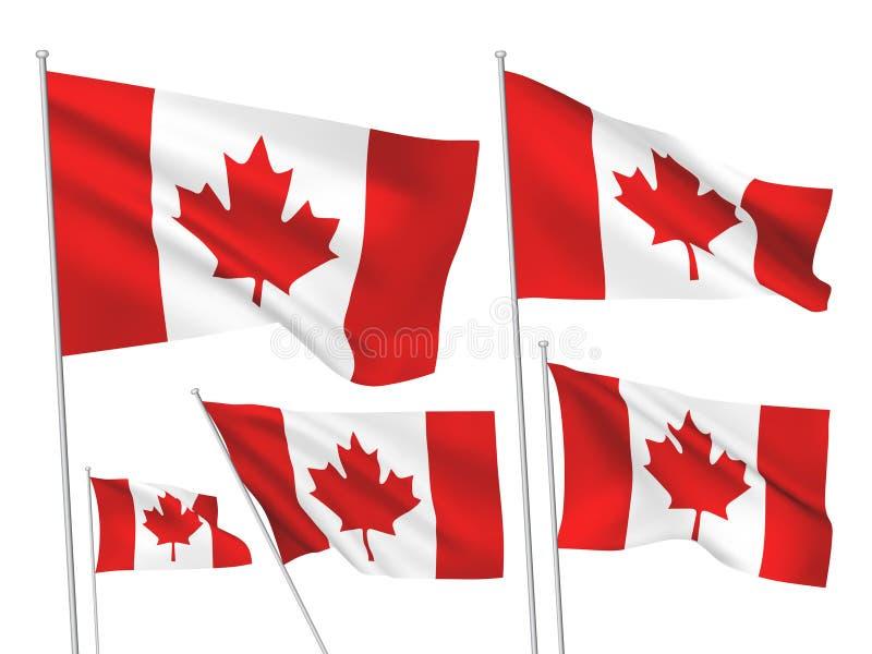 Drapeaux de vecteur de Canada illustration de vecteur
