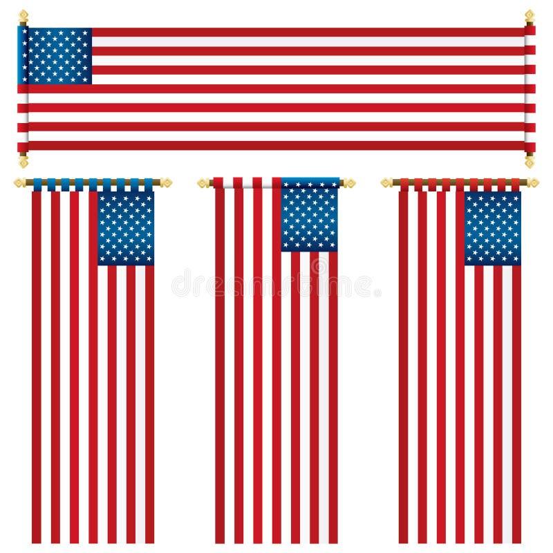 Drapeaux des Etats-Unis illustration stock