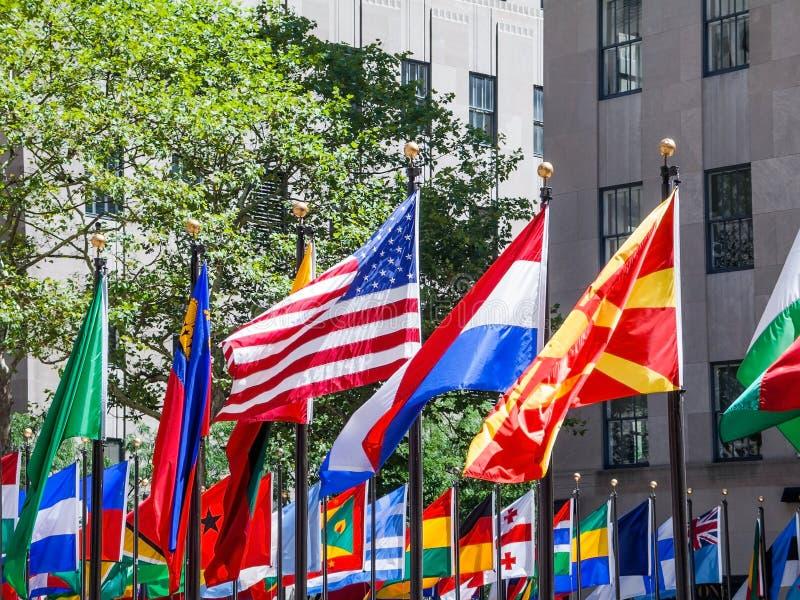 Drapeaux des nations image libre de droits