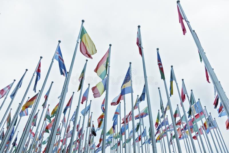Drapeaux des pays photographie stock