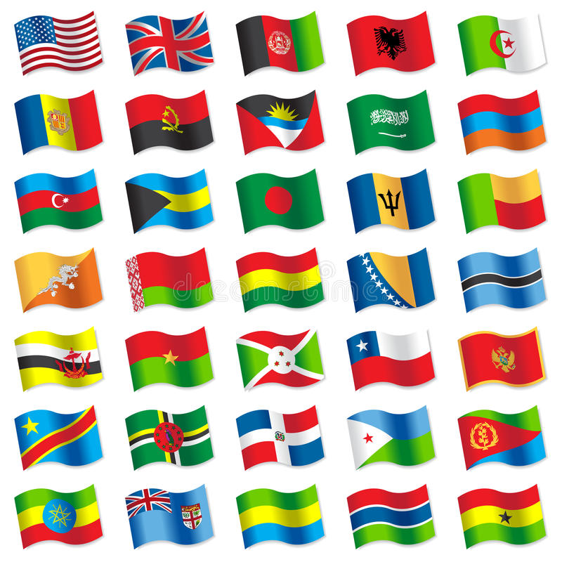 Drapeaux du monde 2 illustration libre de droits