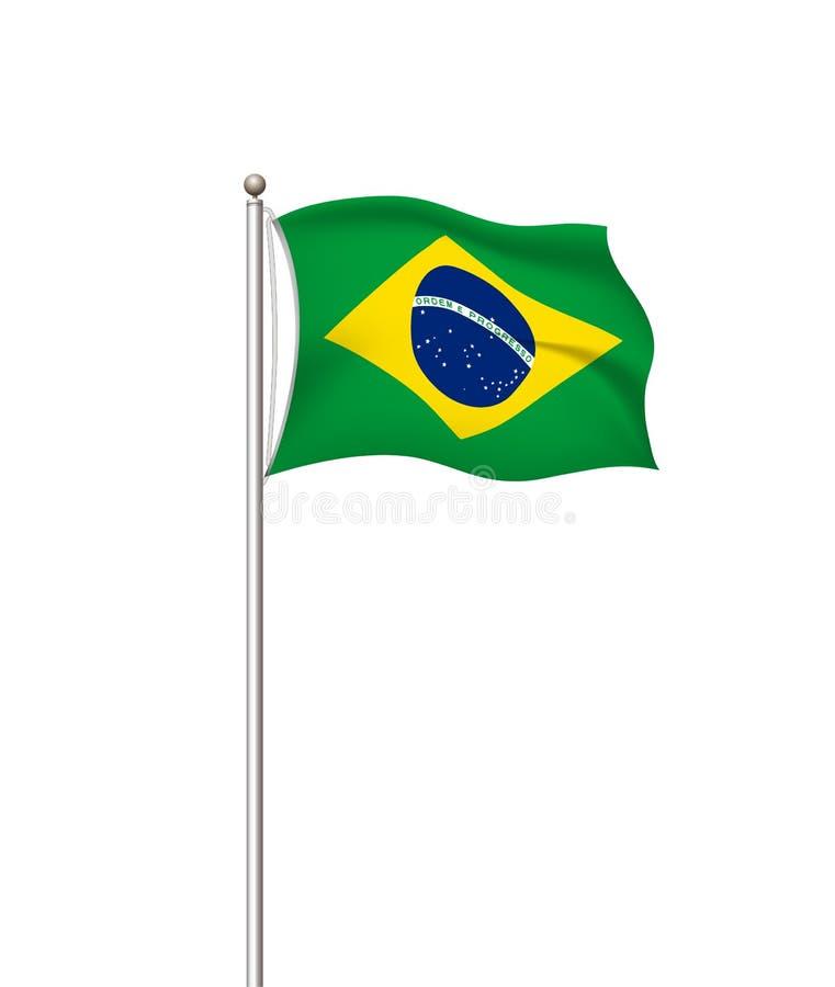 Drapeaux du monde Fond transparent de courrier de drapeau national de pays brazil Illustration de vecteur illustration de vecteur