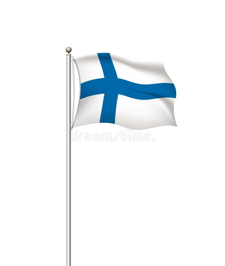 Drapeaux du monde Fond transparent de courrier de drapeau national de pays finland Illustration de vecteur illustration libre de droits