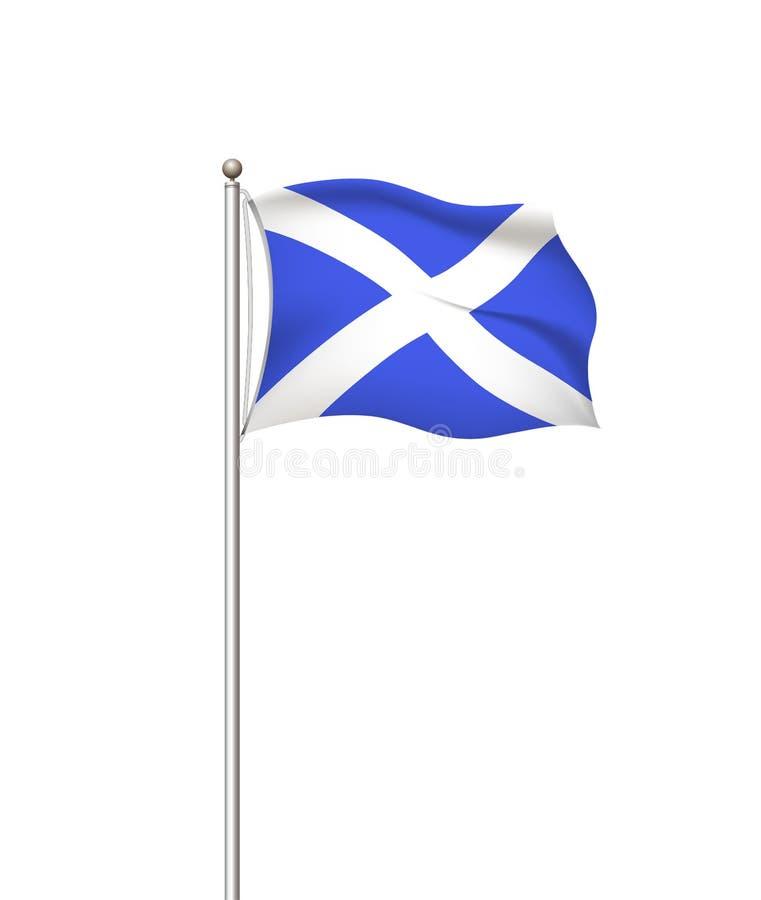 Drapeaux du monde Fond transparent de courrier de drapeau national de pays l'ecosse Illustration de vecteur illustration libre de droits