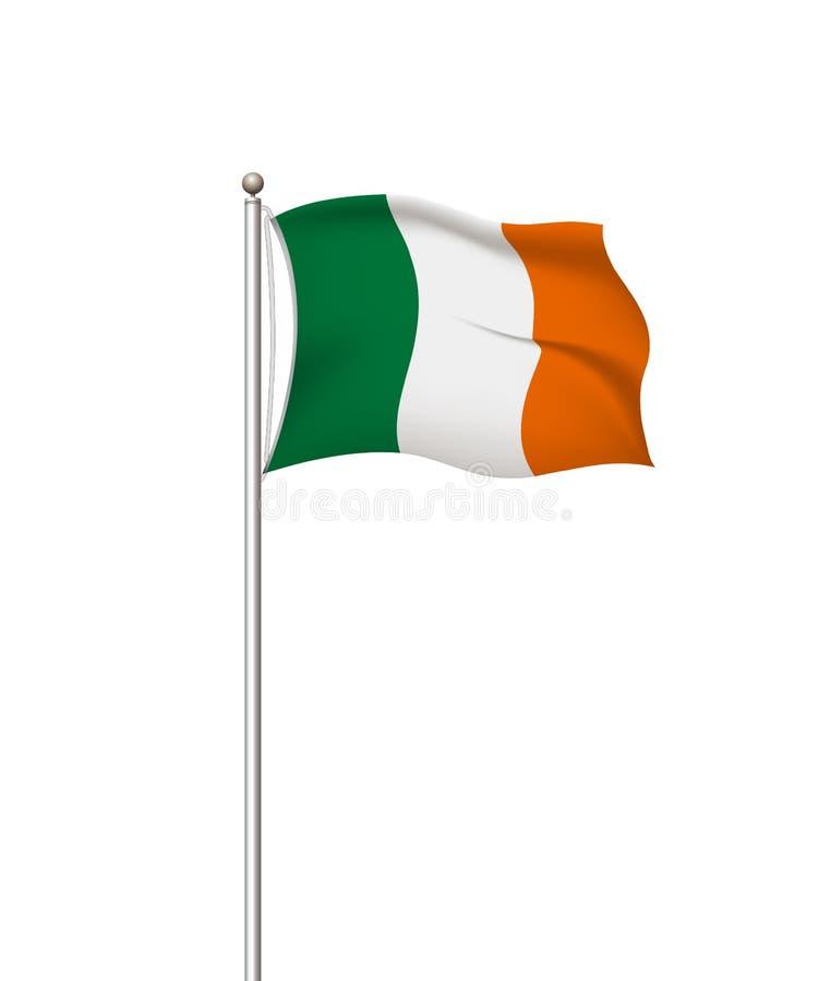 Drapeaux du monde Fond transparent de courrier de drapeau national de pays l'irlande Illustration de vecteur illustration stock