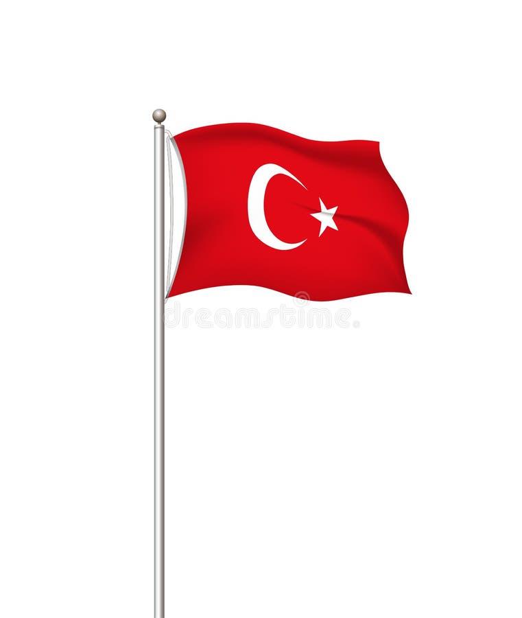 Drapeaux du monde Fond transparent de courrier de drapeau national de pays La Turquie Illustration de vecteur illustration de vecteur