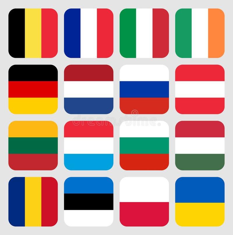 Drapeaux du monde l'Europe photographie stock libre de droits