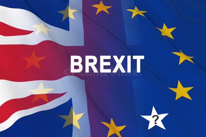 Drapeaux du Royaume-Uni et de l'Européen illustration de vecteur