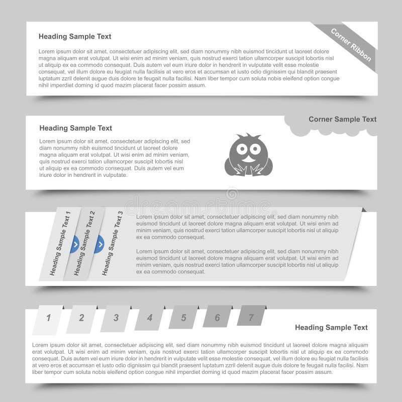 Drapeaux et glisseurs de Web illustration de vecteur