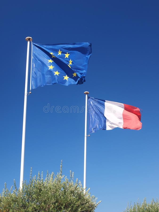 Drapeaux européens et français II images stock
