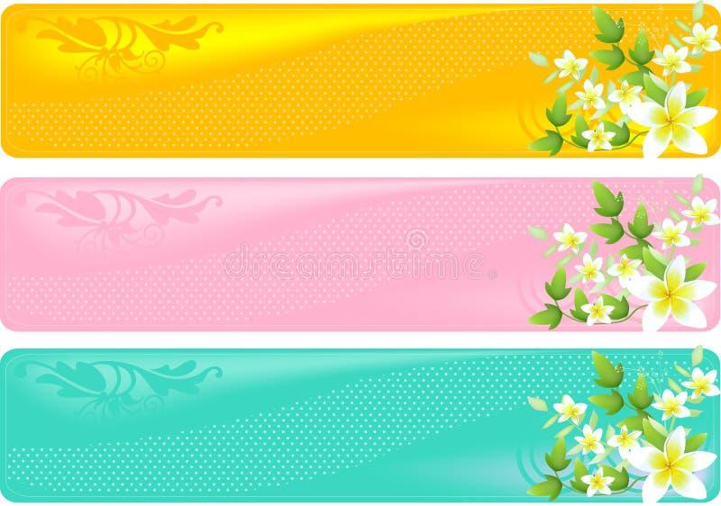 Drapeaux floraux illustration libre de droits