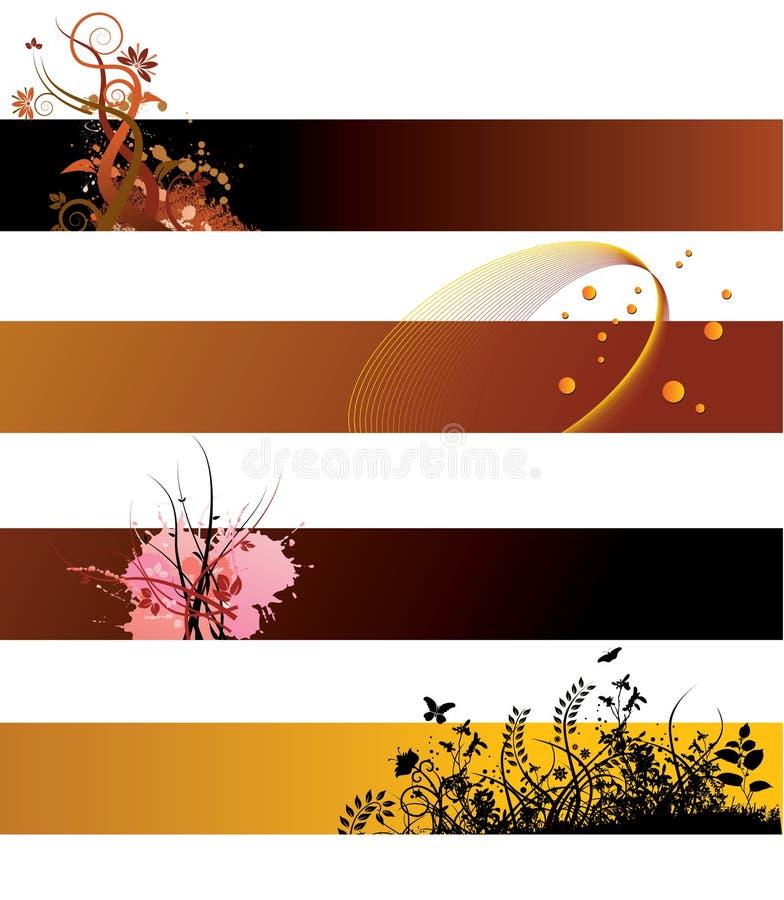 Drapeaux floraux grunges illustration libre de droits