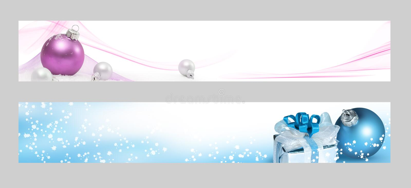 Drapeaux horizontaux de Noël illustration de vecteur