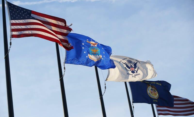 Drapeaux militaires des Etats-Unis image libre de droits