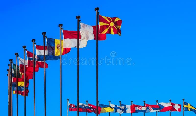 Drapeaux nationaux photos libres de droits