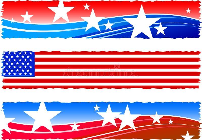 Drapeaux patriotiques de Jour de la Déclaration d'Indépendance illustration libre de droits