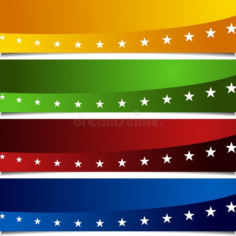 Drapeaux patriotiques de peau de page illustration stock