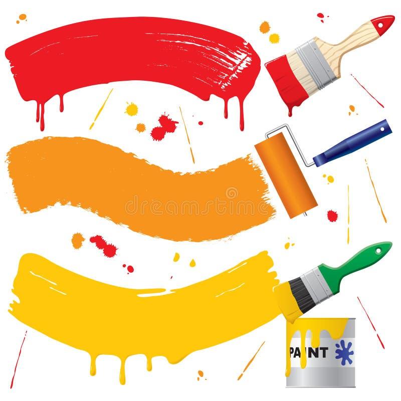 Drapeaux peints illustration stock