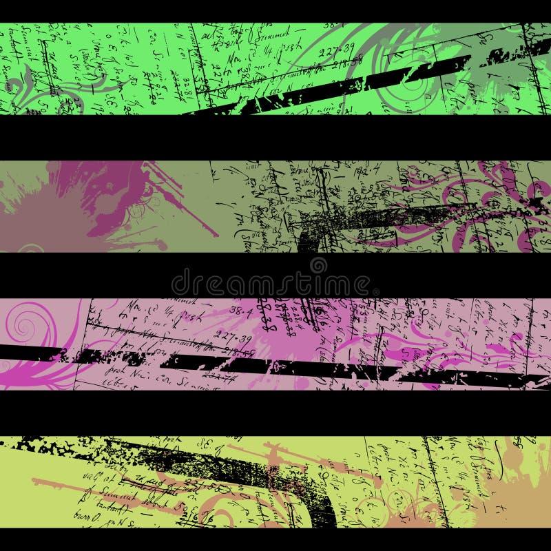 Drapeaux séparés illustration libre de droits