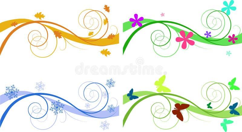 Drapeaux saisonniers illustration libre de droits