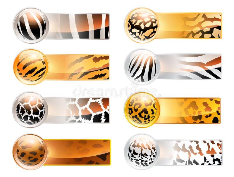 Drapeaux sauvages de Web illustration stock