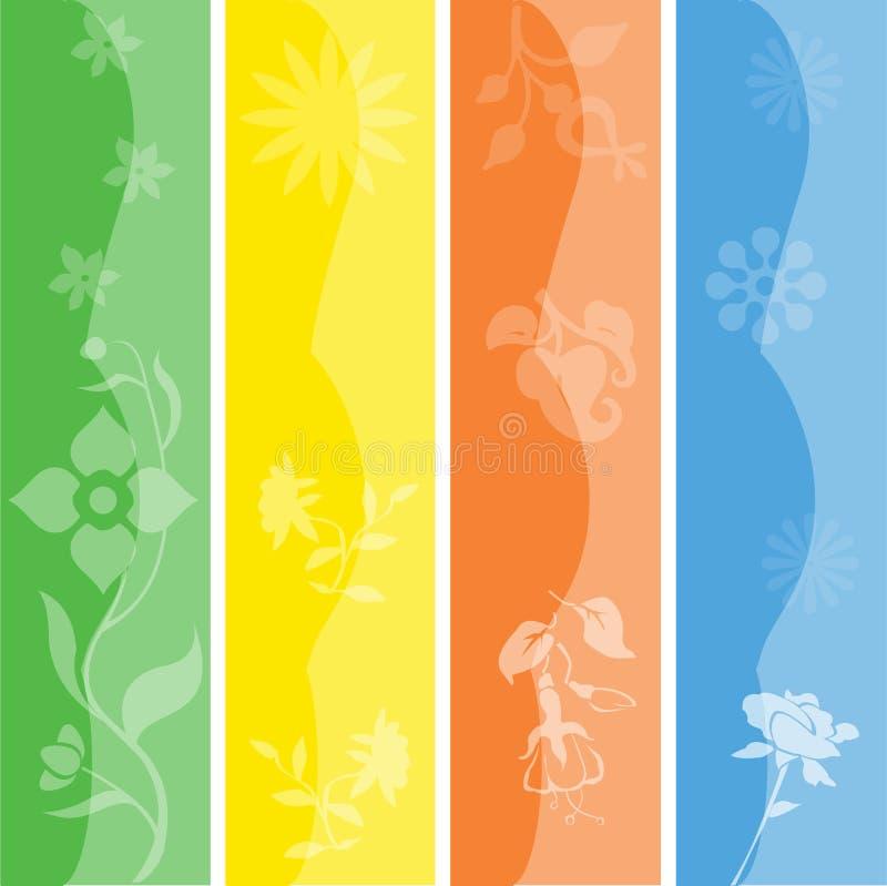 Drapeaux/signets saisonniers réglés illustration libre de droits