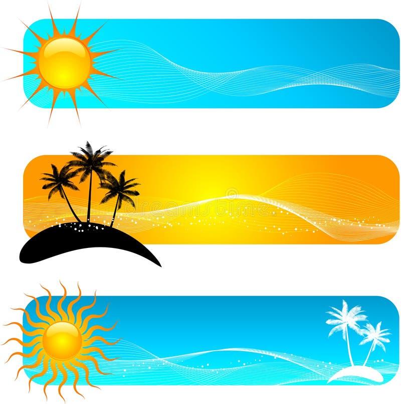 Drapeaux tropicaux illustration de vecteur