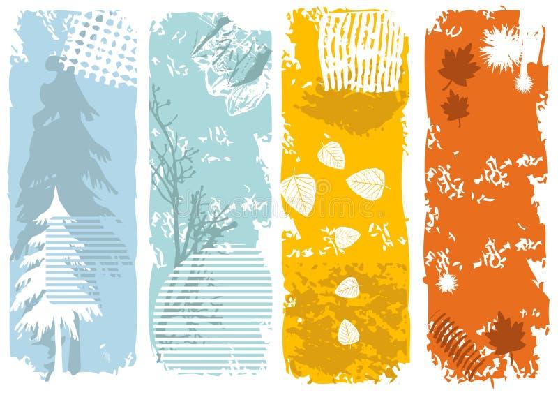 Drapeaux verticaux illustration stock