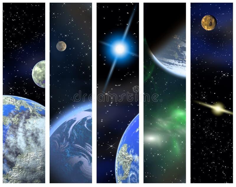 Drapeaux verticaux de l'espace illustration libre de droits